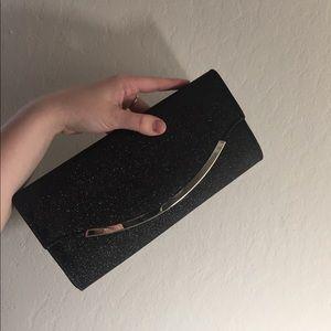 Handbags - Black sparkly clutch purse